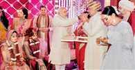 Narendra Modi attends Shatrughan Sinha's son Kush Sinha's wedding