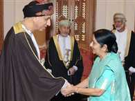 """""""Multiplicity"""" of opportunities"""" in India, Sushma tells Oman"""
