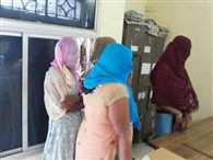 Den of prostitution raid, six women were caught drinking