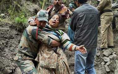 Massive devastation in kedarnath, rescue operation is going on