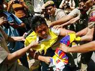Tibetans stage protest outside Taj Palace