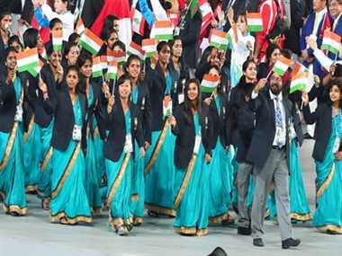 Asian Games begin with beautiful program