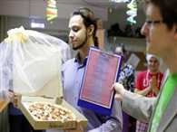 A Russian man just got married to a pizza