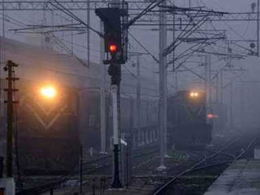 90 trains delayed due to fog