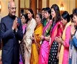 112 असाधारण महिलाओं को राष्ट्रपति ने किया सम्मानित