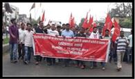 नौजवान सभा ने निकाला प्रतिवाद मार्च