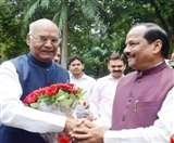 मुख्यमंत्री रघुवर दास ने रामनाथ कोविंद को दी बधाई