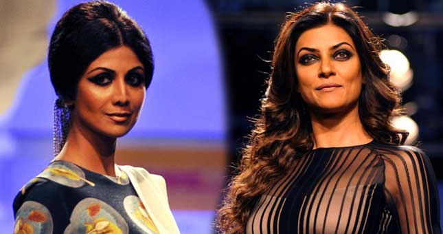 Shilpa Shetty and Sushmita Sen opened Lakme Fashion Week