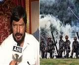 केंद्रीय मंत्री रामदास अठावले ने की भारतीय सेना में एसी-एसटी आरक्षण की मांग