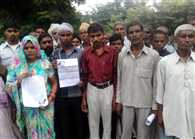villagers protested
