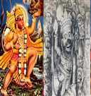 The women are worshiped as Lord Hanuman