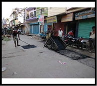 नगर निगम ने शुरू किया सड़कों की पैचिंग का कार्य