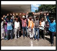 राशनकार्ड की सूची मेंगड़बड़ी को लेकर ग्रामीणों का प्रदर्शन