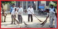 cleaning in police station
