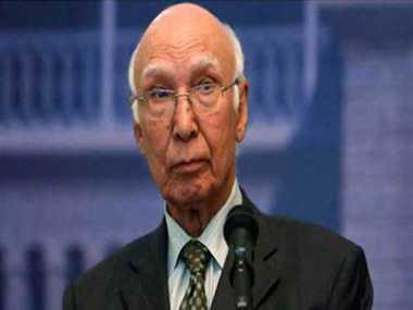 Aziz speaks to UN chief; raises Kashmir