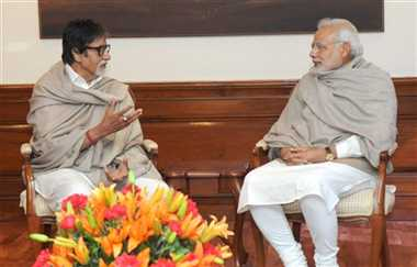 big b meets PM modi
