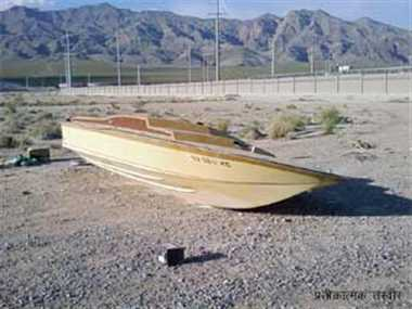 Abandoned Pakistan boat found at 'Harmai Nala' in Kutch