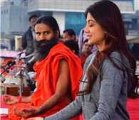 Yoga by Baba Ramdev and Shilpa Shetty
