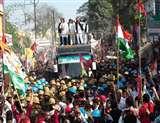 यूपी चुनाव :अखिलेश-राहुल का रोड शो इलाहाबाद जंक्शन में जाकर खत्म