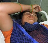 हादसे में महिला घायल, चंडीगढ़ रैफर