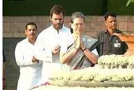Sonia Gandhi pays homage to Rajiv Gandhi on his 25th death anniversary