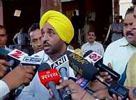 AAP MP Bhagwant Mann on video uploaded by him on social media of parliament