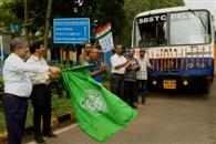 विद्यासागर विवि से दो बसों का परिचालन शुरू