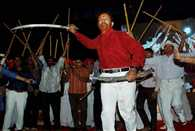 Vanzara party celebrating by shooting at the rally, inquiry