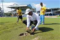 India West Indies fourth test fourth day called off due to wet outfield