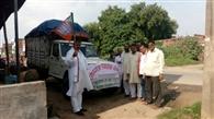 भाजपा ने भेजी बाढ़ पीड़ितों के लिए राहत सामग्री