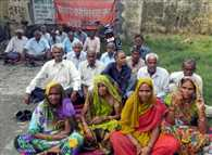 protest on sugar mil workers