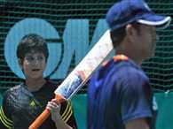 Arjun Tendulkar smashes ton while father Sachin celebrates