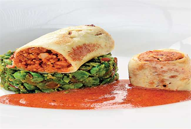 Paneer Soya Roll-up