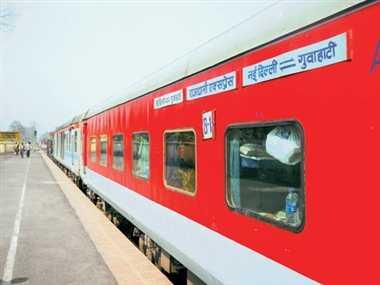 Engine On Rajdhani Express Failed In Allahabad