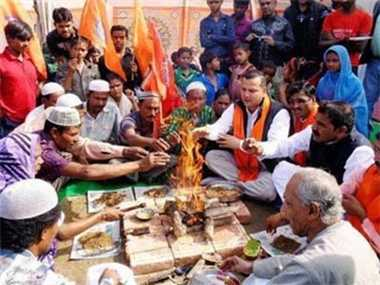 VHP holds 'ghar wapsi' for 200 tribal Christians