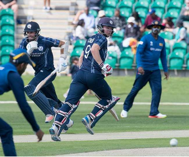 Scotland beat Sri Lanka in a surprising match by 7 wickets ahead of ICC Champions Trophy