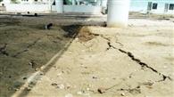 आरओबी के नीचे रेलवे ट्रैक के पास धंसी मिट्टी