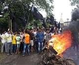 महाराष्ट्र में फिर उग्र हुए किसान, वाहनों में लगाई आग