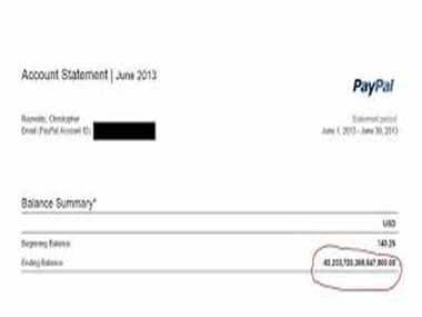 PayPal Accidentally Credited $92 Quadrillion