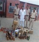 छापा मारा, हंसावास में अवैध शराब का जखीरा बरामद