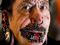 World's most pierced  man