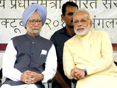 Modi was also booing in front of manmohan