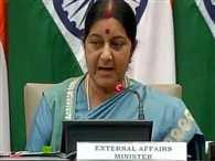 He gave dossiers , we will give terrorist alive: Sushma swaraj