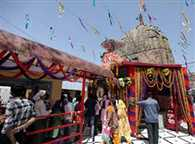 The festival of Navratri Bawe Mata Temple took stock of the arrangements
