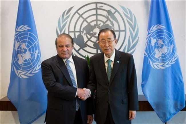 Pak, India should resolve Kashmir dispute:Ban to Sharif