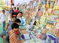 much sell of patakha, sweets and ganesh laxmi statue