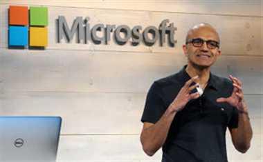 Microsoft's Satya Nadella gets USD 84 mln compensation in 2014