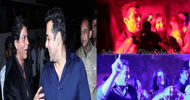Shahrukh Khan and Salman dance to Chaiyya Chaiyya at Arpita Khans reception