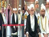 'Dastarbandi' Ceremony of Shahi Imam Syed Ahmed Bukhari's son Shaban Bukhari begins at Jama Masjid
