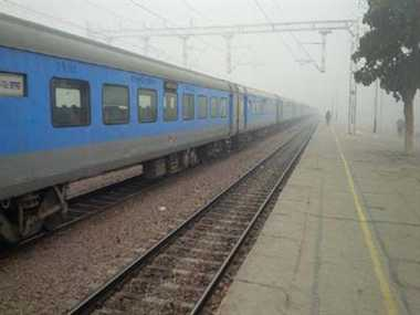 Foggy weather disrupts train movement